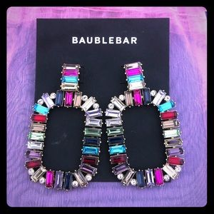 Baublebar Multicolored Stone Statement Earrings